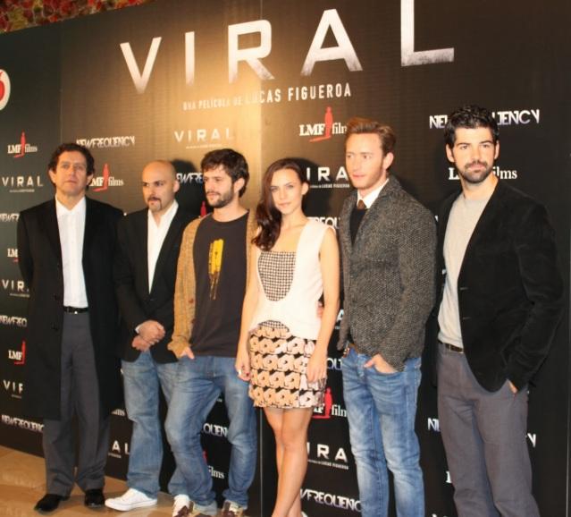 De izq a dcha: Pedro Casablanc, Lucas Figueroa, Juan Blanco, Aura Garrido, Pablo Rivero y Miguel Ángel Muñoz