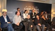 El equipo durante la rueda de prensa